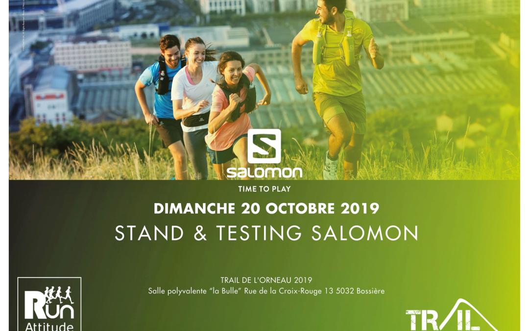 Testez la gamme Trail Running Salomon au Trail de l'Orneau